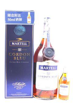 圖片 Martell 金牌馬爹利 Cordon Bleu 藍帶連酒辨 (舊裝)