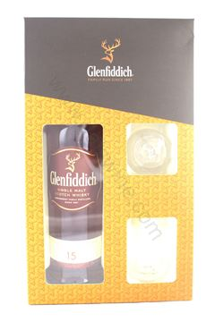 Picture of Glenfiddich 15 years with 2 glasses