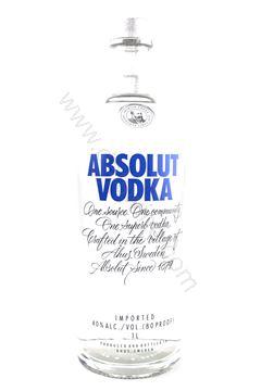 圖片 Absolut Vodka 40% (1L)